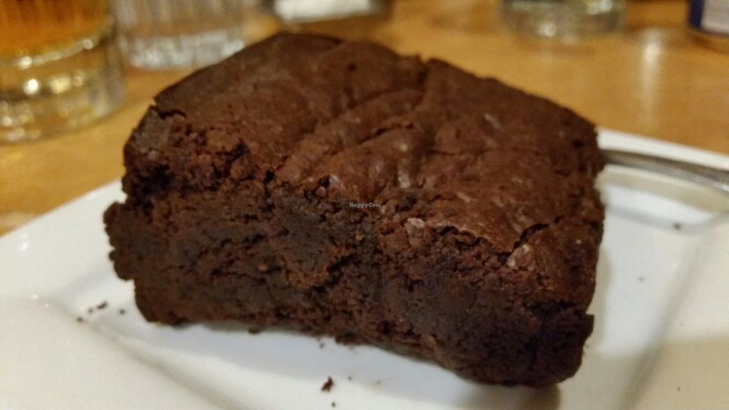 "Photo of At Sara's Table Chester Creek Cafe  by <a href=""/members/profile/EverydayTastiness"">EverydayTastiness</a> <br/>vegan brownie <br/> February 13, 2016  - <a href='/contact/abuse/image/33108/136156'>Report</a>"
