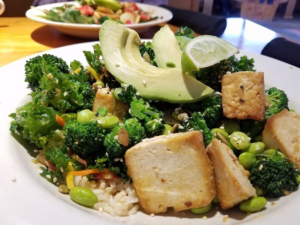"Photo of At Sara's Table Chester Creek Cafe  by <a href=""/members/profile/EverydayTastiness"">EverydayTastiness</a> <br/>Buddha bowl with tofu <br/> March 24, 2017  - <a href='/contact/abuse/image/33108/240331'>Report</a>"