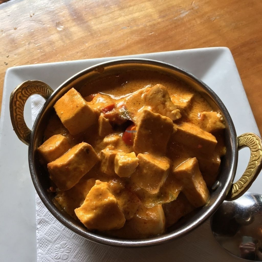 "Photo of East is East - Broadway  by <a href=""/members/profile/vegan%20frog"">vegan frog</a> <br/>Vegan mango tofu curry <br/> August 8, 2016  - <a href='/contact/abuse/image/33133/166766'>Report</a>"