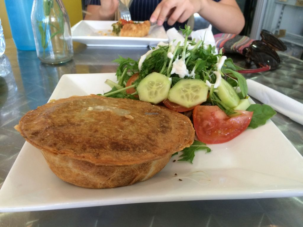 "Photo of Loving Hut - Victoria Park  by <a href=""/members/profile/Sassburger"">Sassburger</a> <br/>'Cheesy' Vegan Pie and Side Salad <br/> February 9, 2016  - <a href='/contact/abuse/image/33144/135528'>Report</a>"