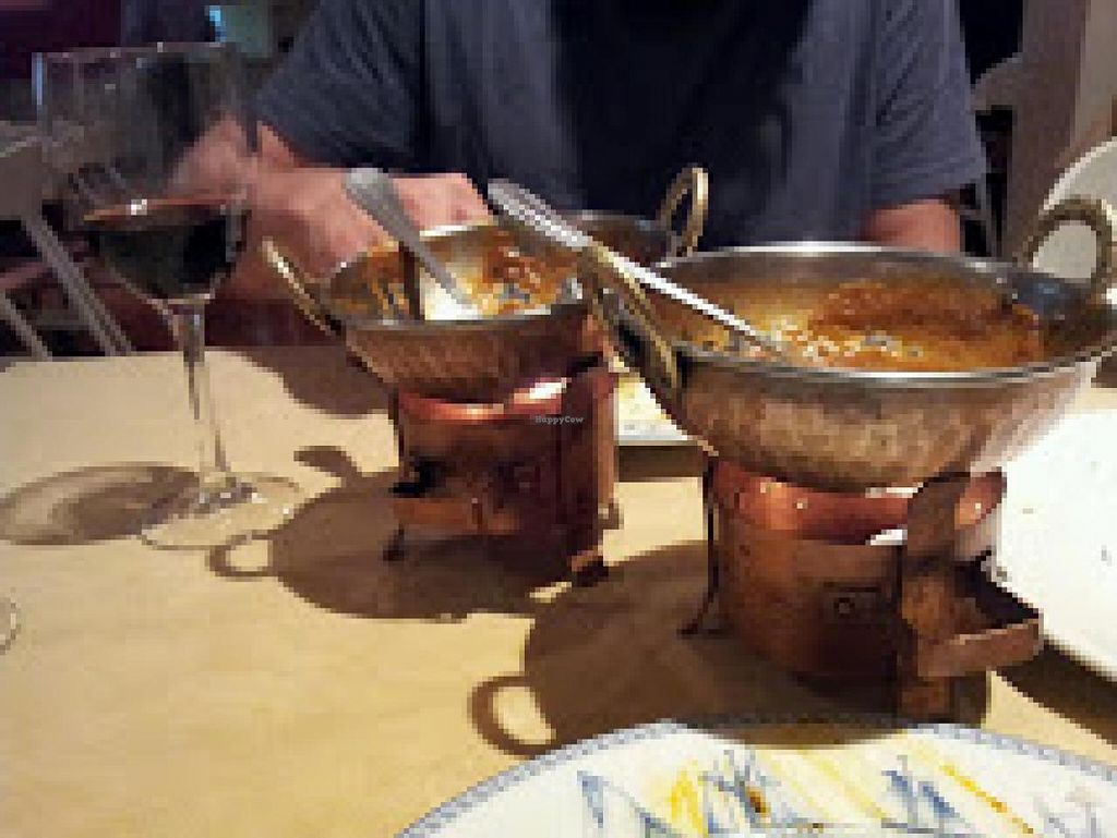 """Photo of Taj Mahal  by <a href=""""/members/profile/Restless_Rover"""">Restless_Rover</a> <br/>Food is served in these typical copper pots to keep it warm <br/> August 28, 2014  - <a href='/contact/abuse/image/33153/78428'>Report</a>"""