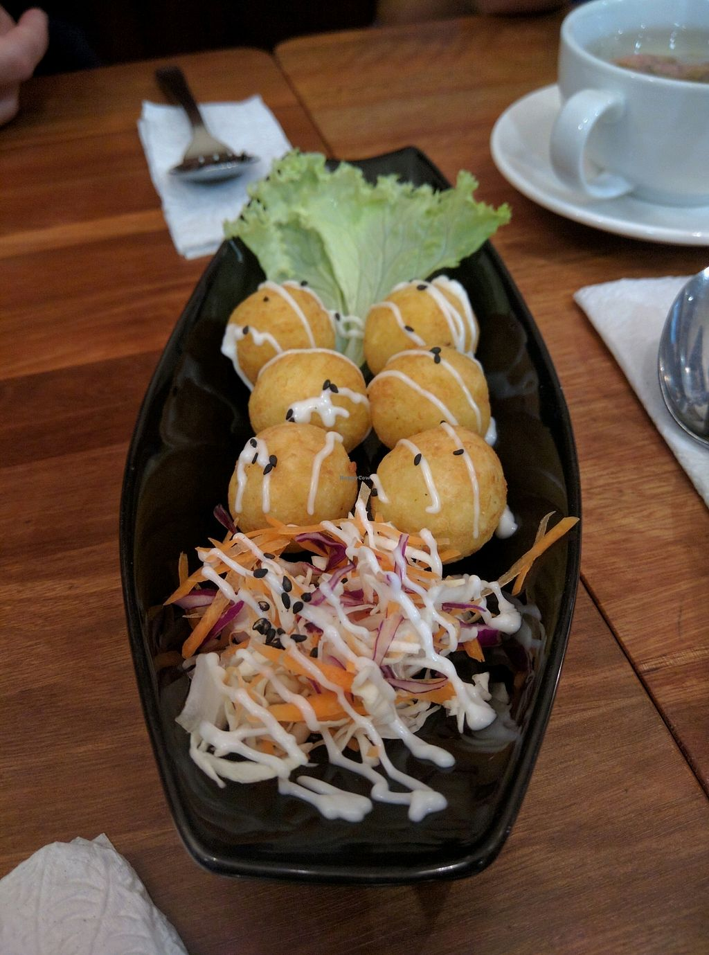 """Photo of Journey2Life  by <a href=""""/members/profile/Summer_Tan"""">Summer_Tan</a> <br/>213: Potato Ball - RM8.35 Pretty good. Light and crunchy, with a soft melts in your mouth texture on the inside. A bit overpriced <br/> January 31, 2018  - <a href='/contact/abuse/image/33178/353324'>Report</a>"""