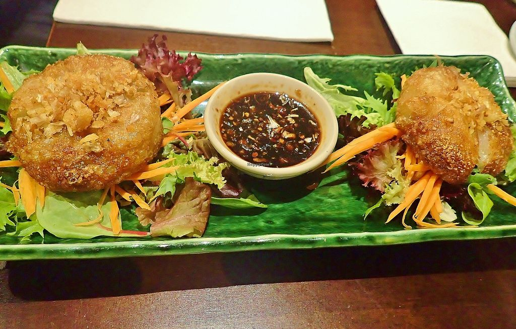 """Photo of Madame K's Vegetarian Cafe  by <a href=""""/members/profile/verbosity"""">verbosity</a> <br/>Chive Dumplings <br/> April 10, 2016  - <a href='/contact/abuse/image/33179/143724'>Report</a>"""