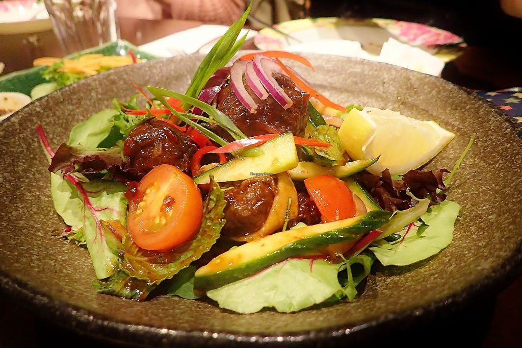 """Photo of Madame K's Vegetarian Cafe  by <a href=""""/members/profile/verbosity"""">verbosity</a> <br/>Thai Spicy Salad <br/> April 10, 2016  - <a href='/contact/abuse/image/33179/143726'>Report</a>"""