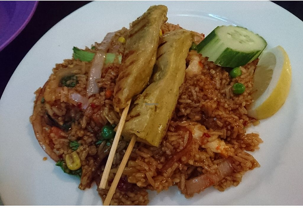 """Photo of Madame K's Vegetarian Cafe  by <a href=""""/members/profile/V-for-Vegan"""">V-for-Vegan</a> <br/>Indonesian Fried Rice <br/> March 28, 2018  - <a href='/contact/abuse/image/33179/377170'>Report</a>"""