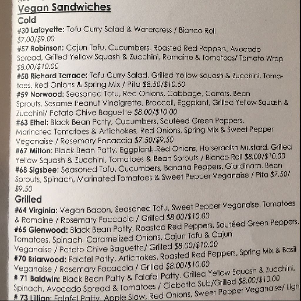 """Photo of Cherry Deli  by <a href=""""/members/profile/Mariarosekicks"""">Mariarosekicks</a> <br/>full vegan menu <br/> May 20, 2017  - <a href='/contact/abuse/image/33198/260683'>Report</a>"""
