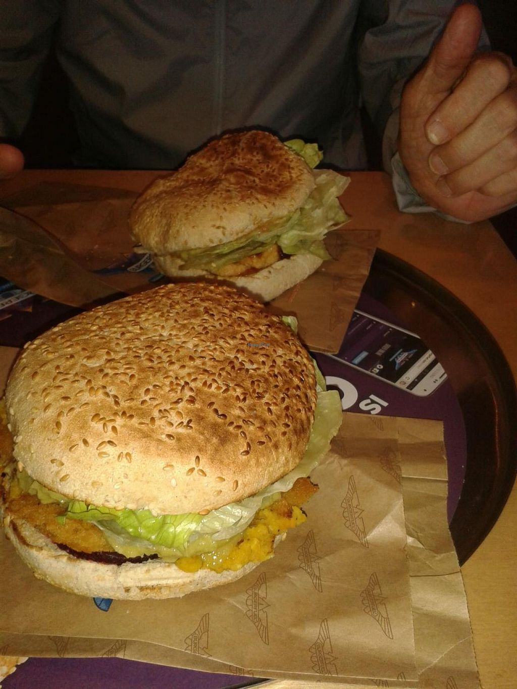 "Photo of BurgerFuel  by <a href=""/members/profile/Veganswife"">Veganswife</a> <br/>Pumpkin and lentil pat tie burger and tofu burger <br/> September 24, 2014  - <a href='/contact/abuse/image/33207/80983'>Report</a>"
