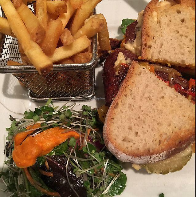 "Photo of Quay Street Kitchen  by <a href=""/members/profile/VeganDarling"">VeganDarling</a> <br/>veggie burger  <br/> September 18, 2017  - <a href='/contact/abuse/image/33212/305760'>Report</a>"