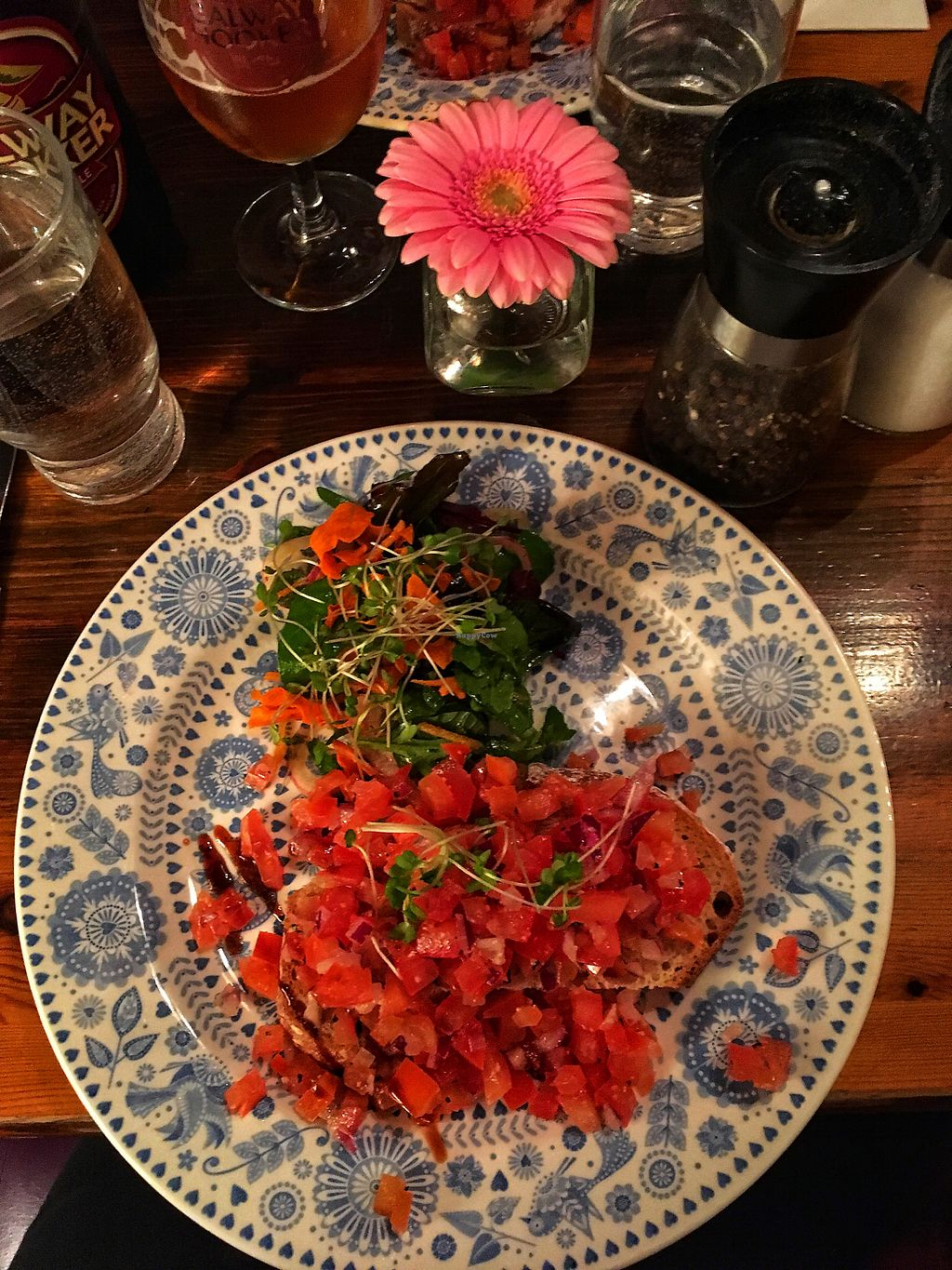 "Photo of Quay Street Kitchen  by <a href=""/members/profile/luuuris"">luuuris</a> <br/>Vegan bruschetta (starter) <br/> April 7, 2018  - <a href='/contact/abuse/image/33212/382121'>Report</a>"