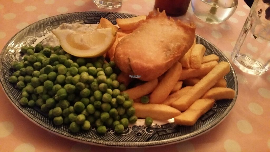 """Photo of Norman's Coach and Horses  by <a href=""""/members/profile/KatieBatty"""">KatieBatty</a> <br/>""""Fish"""" and chips  <br/> March 17, 2017  - <a href='/contact/abuse/image/33232/237280'>Report</a>"""