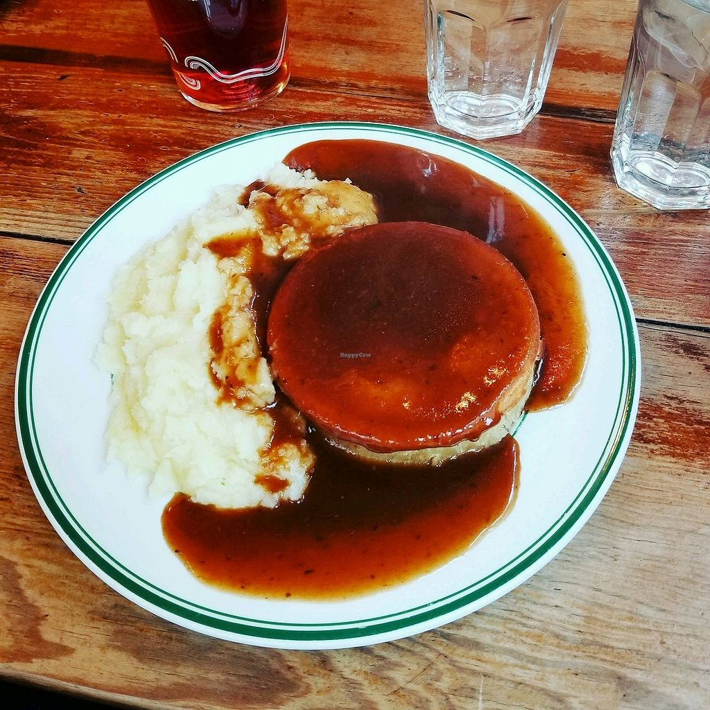 """Photo of Norman's Coach and Horses  by <a href=""""/members/profile/tikhonova87"""">tikhonova87</a> <br/>Mushroom and Leek Pie <br/> March 18, 2018  - <a href='/contact/abuse/image/33232/372492'>Report</a>"""