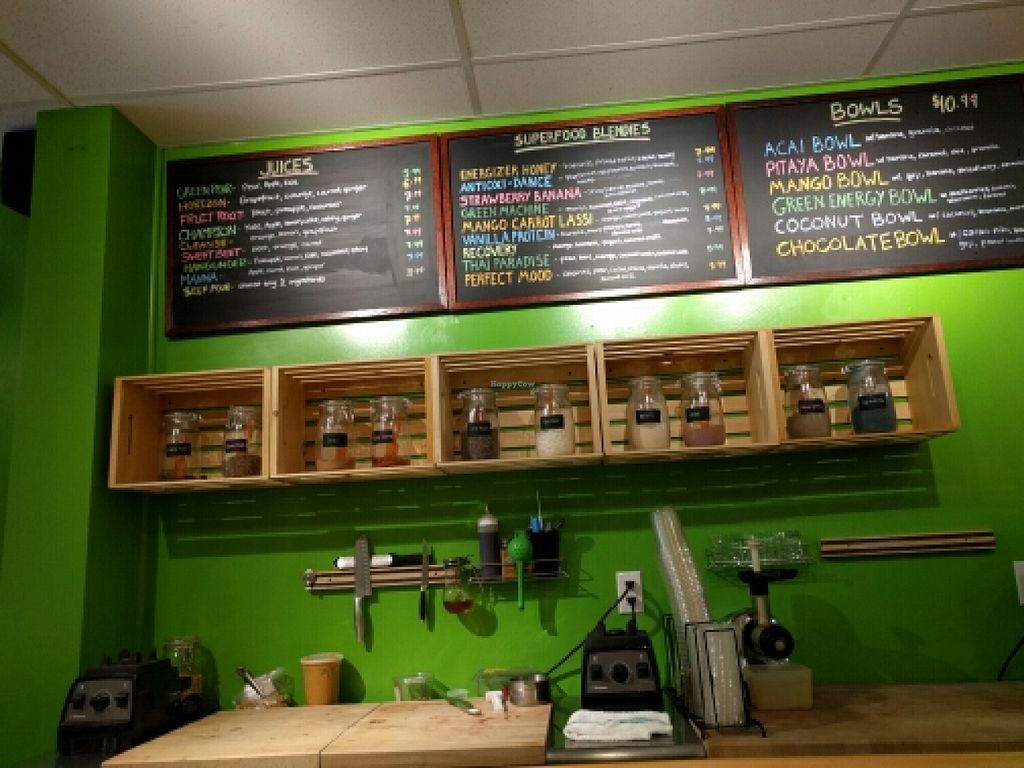 """Photo of The Juice Bar - Food Cart  by <a href=""""/members/profile/Toroco"""">Toroco</a> <br/>Menu  <br/> June 6, 2016  - <a href='/contact/abuse/image/33234/152547'>Report</a>"""