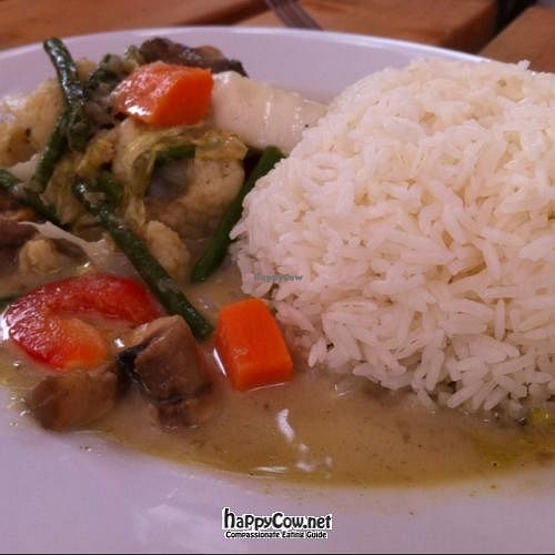 """Photo of Blue Piano  by <a href=""""/members/profile/gadgetdave"""">gadgetdave</a> <br/>Vegan Shitake Mushroom, Green Bean, Cauliflower and Sweet Potato Green Curry <br/> July 25, 2012  - <a href='/contact/abuse/image/33247/35012'>Report</a>"""