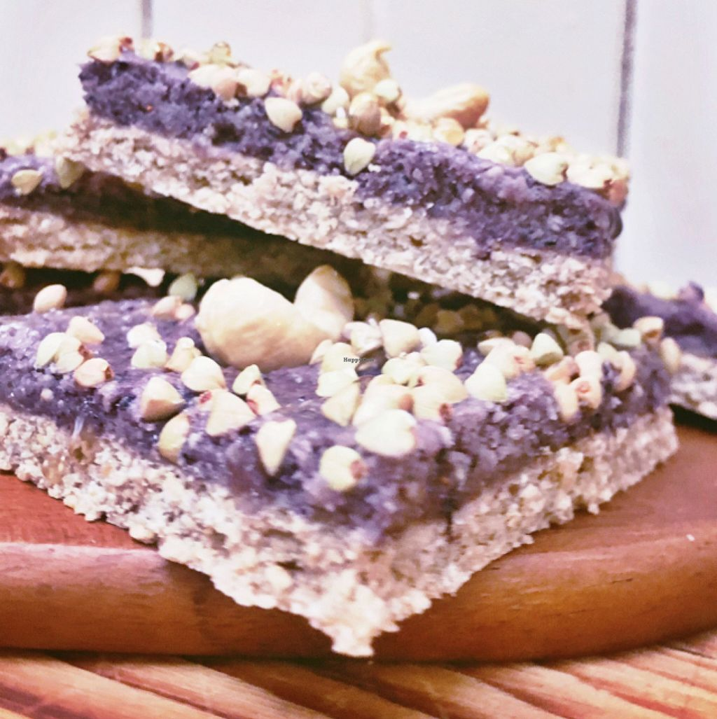 """Photo of Formosa Delight  by <a href=""""/members/profile/PJantbased"""">PJantbased</a> <br/>sugar free blueberry cashew slice <br/> July 31, 2016  - <a href='/contact/abuse/image/33248/163694'>Report</a>"""
