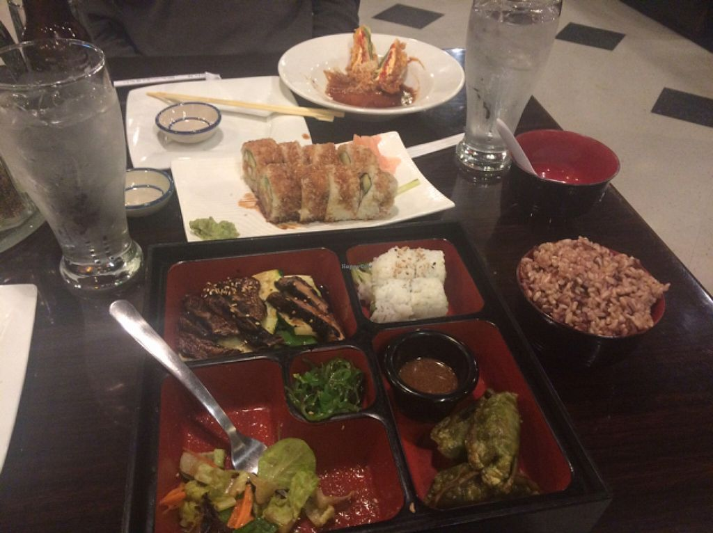 """Photo of CLOSED: Loving Vegan  by <a href=""""/members/profile/Pearlpeachy"""">Pearlpeachy</a> <br/>bento box has a lot of food and is a great deal <br/> October 28, 2015  - <a href='/contact/abuse/image/33252/122989'>Report</a>"""