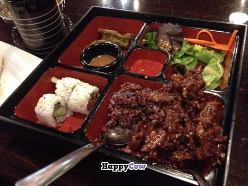"""Photo of CLOSED: Loving Vegan  by <a href=""""/members/profile/mbentz"""">mbentz</a> <br/>spare ribs bento box <br/> December 13, 2013  - <a href='/contact/abuse/image/33252/60302'>Report</a>"""