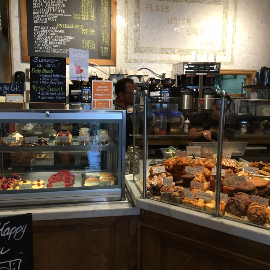 """Photo of Le Pain Quotidien - Grand St  by <a href=""""/members/profile/Thepennsyltuckyvegan"""">Thepennsyltuckyvegan</a> <br/>Vegan pastry options! <br/> July 28, 2016  - <a href='/contact/abuse/image/33263/162945'>Report</a>"""