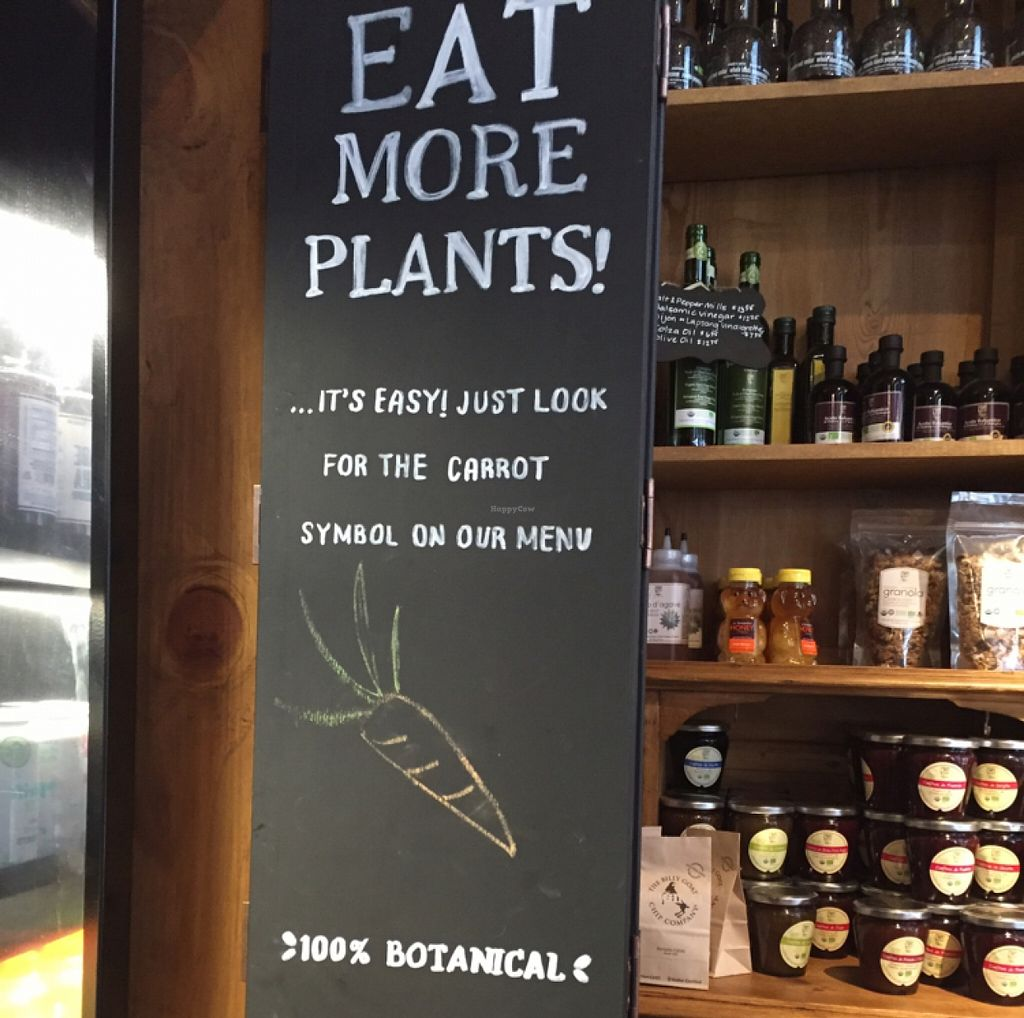 """Photo of Le Pain Quotidien - 7th Ave  by <a href=""""/members/profile/scb24"""">scb24</a> <br/>many encouraging plant based signs  <br/> May 25, 2016  - <a href='/contact/abuse/image/33266/150731'>Report</a>"""