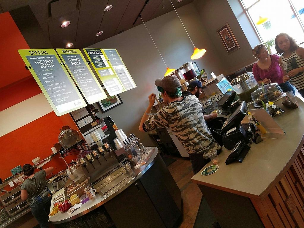 """Photo of Laughing Planet - Williamette St  by <a href=""""/members/profile/Monbon03"""">Monbon03</a> <br/>Registers and menu <br/> August 21, 2017  - <a href='/contact/abuse/image/33279/295009'>Report</a>"""
