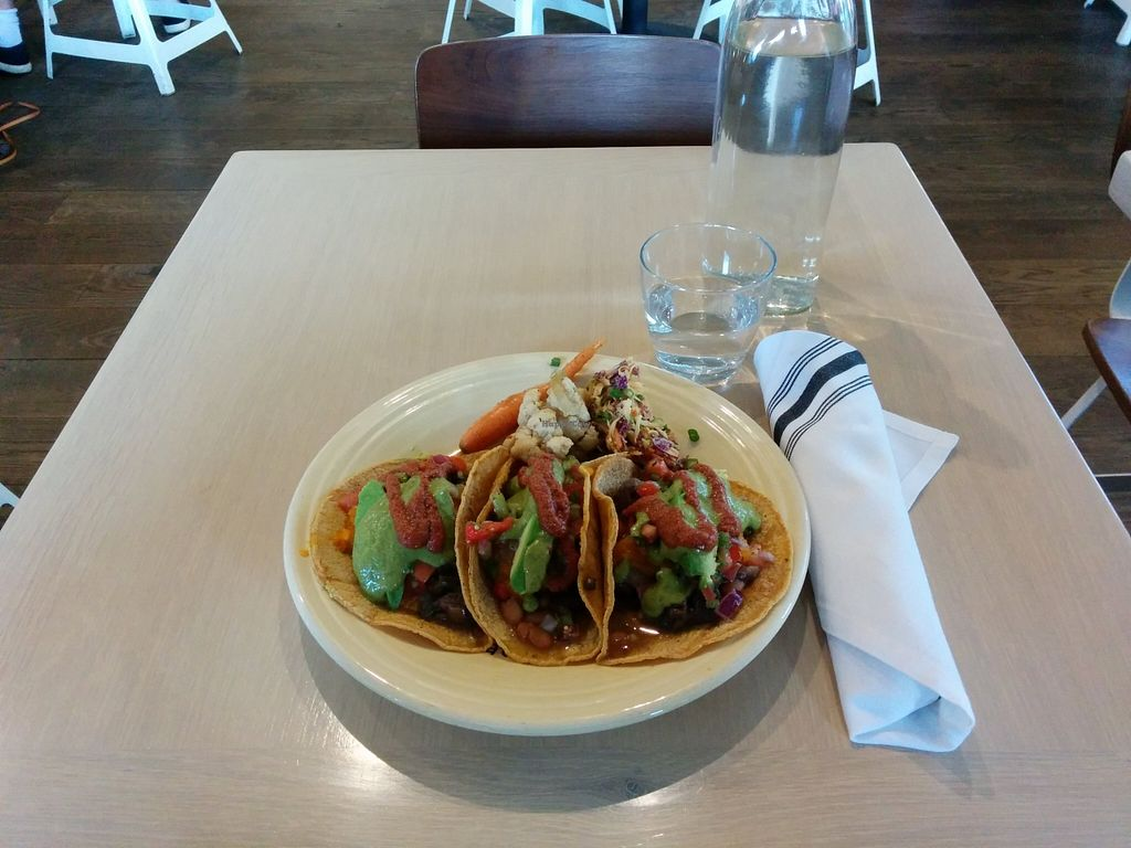 "Photo of Cafe Gratitude - Venice  by <a href=""/members/profile/universo"">universo</a> <br/>Corn Tacos <br/> November 9, 2015  - <a href='/contact/abuse/image/33282/124446'>Report</a>"