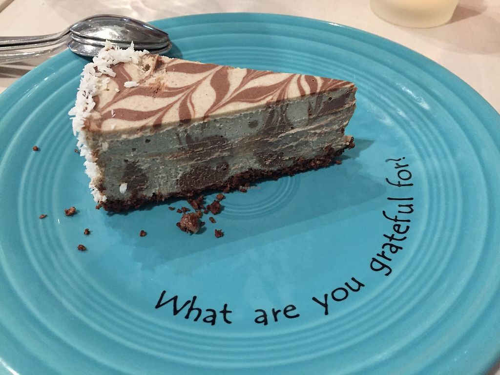 "Photo of Cafe Gratitude - Venice  by <a href=""/members/profile/jergusko"">jergusko</a> <br/>I am grateful for this cake <br/> October 24, 2017  - <a href='/contact/abuse/image/33282/318278'>Report</a>"