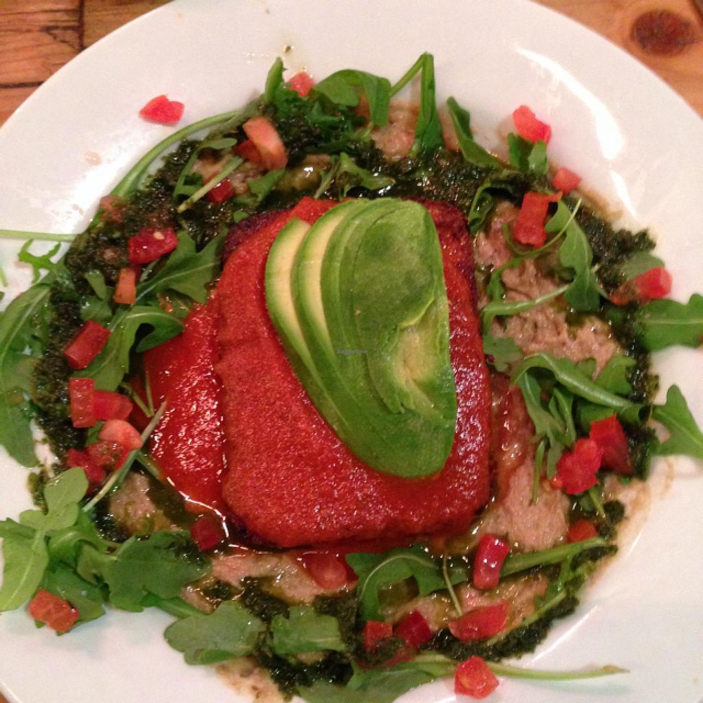"""Photo of Le Pain Quotidien  by <a href=""""/members/profile/Hippiecatlady"""">Hippiecatlady</a> <br/>one of the best meals of my life! quinoa cake! <br/> March 12, 2014  - <a href='/contact/abuse/image/33313/65793'>Report</a>"""
