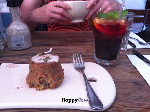 """Photo of Le Pain Quotidien - M St  by <a href=""""/members/profile/SamiT"""">SamiT</a> <br/>vegan carrot cake and hibiscus tea <br/> September 7, 2013  - <a href='/contact/abuse/image/33317/54584'>Report</a>"""