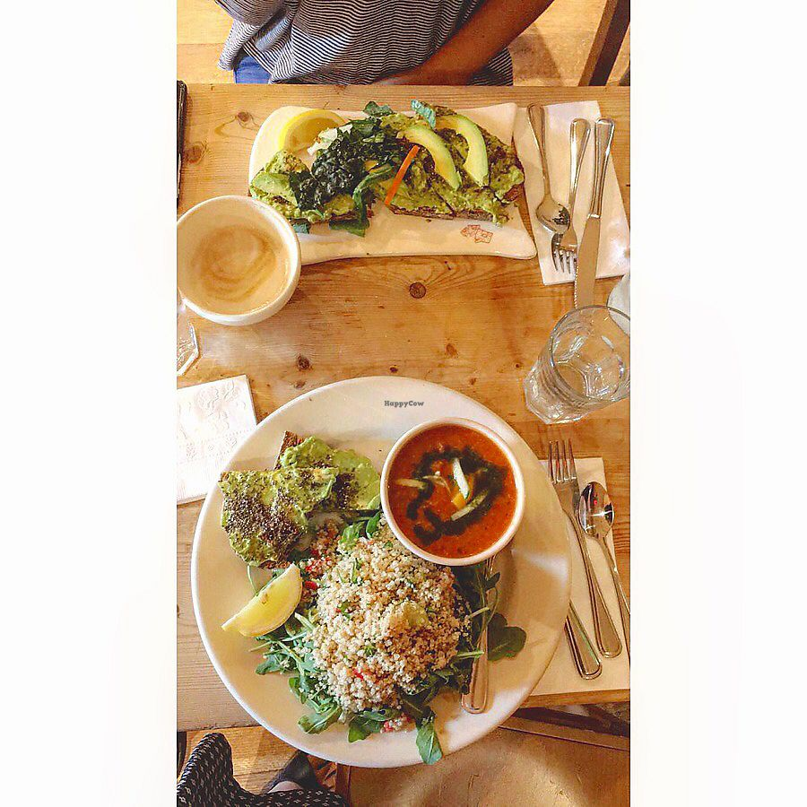 """Photo of Le Pain Quotidien - P St  by <a href=""""/members/profile/TravelVeggie"""">TravelVeggie</a> <br/>Avocado toast and bakers lunch  <br/> December 11, 2017  - <a href='/contact/abuse/image/33320/334542'>Report</a>"""