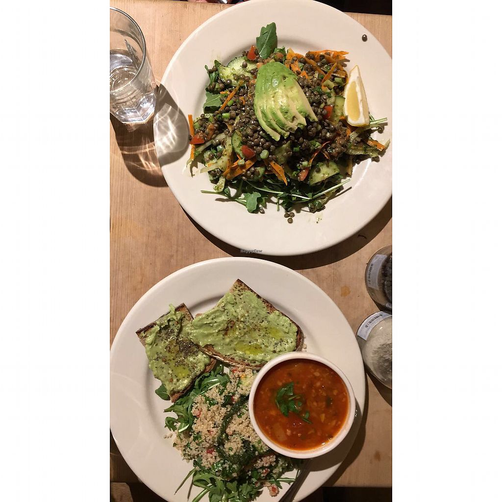 """Photo of Le Pain Quotidien - P St  by <a href=""""/members/profile/TravelVeggie"""">TravelVeggie</a> <br/>Bakers lunch and lentil- avo salad  <br/> December 11, 2017  - <a href='/contact/abuse/image/33320/334544'>Report</a>"""