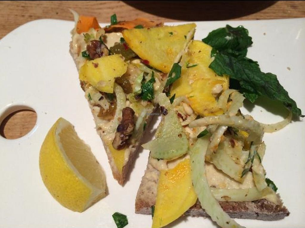 """Photo of Le Pain Quotidien - P St  by <a href=""""/members/profile/JLP"""">JLP</a> <br/>Vegan tartine. we'll half of it <br/> June 29, 2014  - <a href='/contact/abuse/image/33320/72942'>Report</a>"""