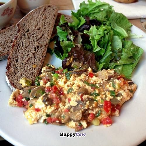"Photo of Le Pain Quotidien - Pennsylvania Ave  by <a href=""/members/profile/ohemgee"">ohemgee</a> <br/>Organic Tofu Scramble with soy cheese, tomatoes and mushrooms. Gluten free bread <br/> September 25, 2013  - <a href='/contact/abuse/image/33323/55669'>Report</a>"