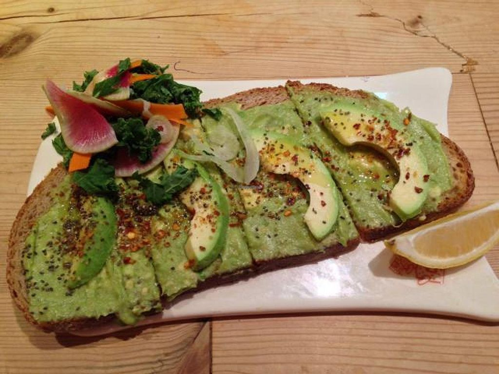"""Photo of Le Pain Quotidien- 17th St  by <a href=""""/members/profile/happycowgirl"""">happycowgirl</a> <br/>avocado toast <br/> October 23, 2014  - <a href='/contact/abuse/image/33324/83748'>Report</a>"""