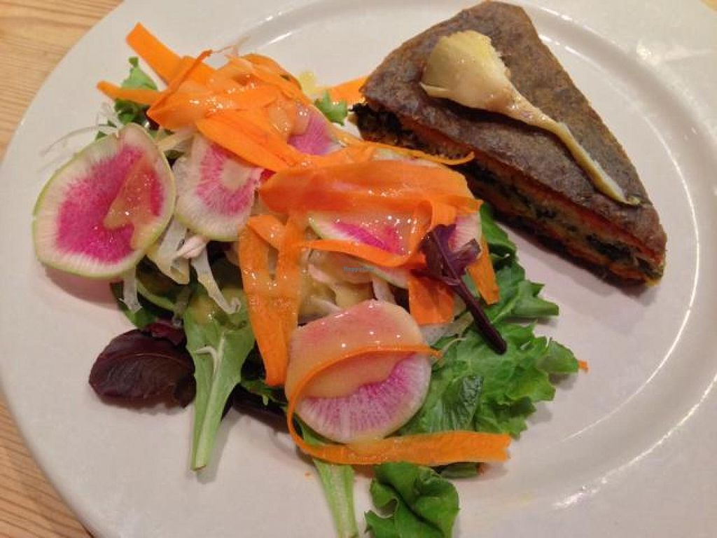 """Photo of Le Pain Quotidien- 17th St  by <a href=""""/members/profile/happycowgirl"""">happycowgirl</a> <br/>vegetable tart (vegan) <br/> October 23, 2014  - <a href='/contact/abuse/image/33324/83751'>Report</a>"""