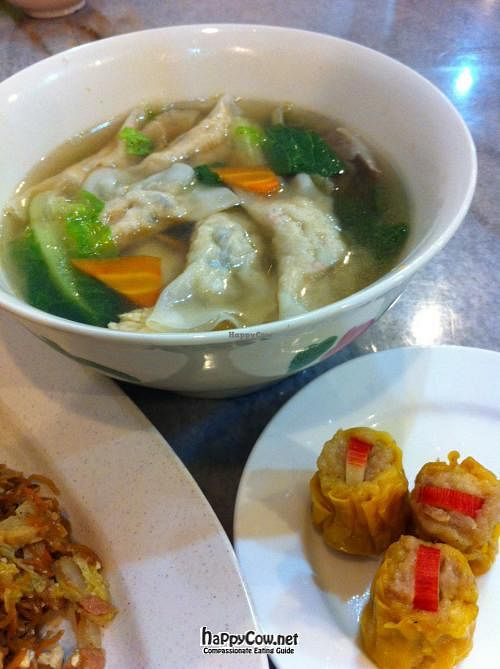 "Photo of Vege Good  by <a href=""/members/profile/Tofumight"">Tofumight</a> <br/>dumpling soup & siew mai <br/> July 17, 2012  - <a href='/contact/abuse/image/33333/34635'>Report</a>"