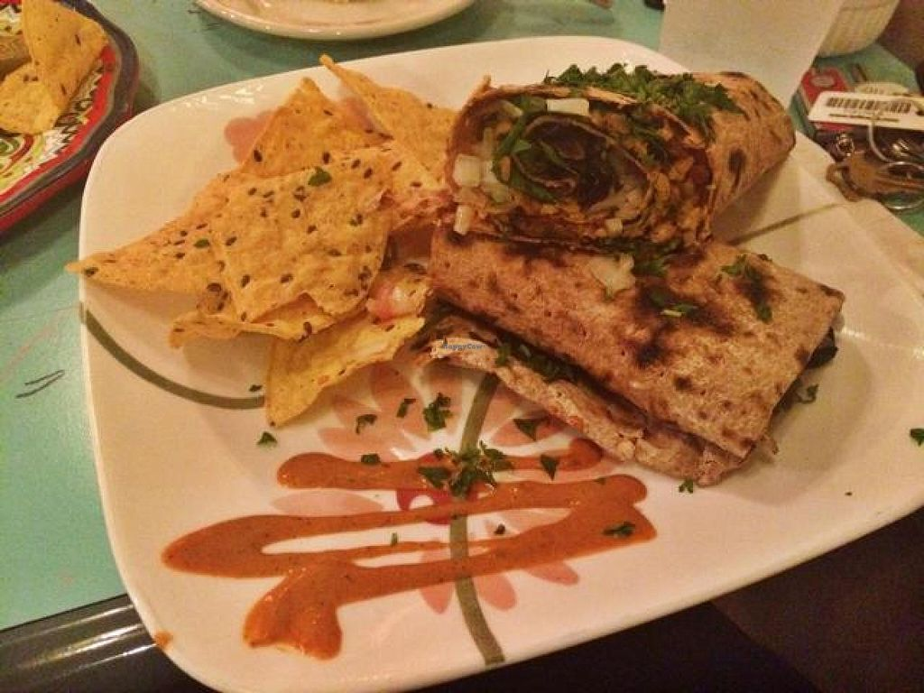 """Photo of Green Erth Bistro  by <a href=""""/members/profile/NaturallyLala"""">NaturallyLala</a> <br/>Tempeh Wrap  <br/> September 5, 2014  - <a href='/contact/abuse/image/33360/79145'>Report</a>"""