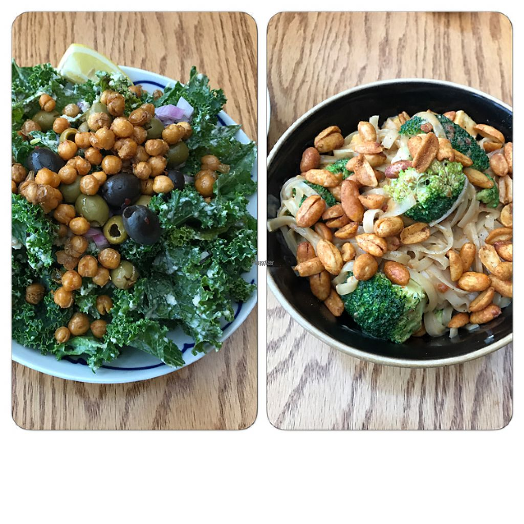 """Photo of Wild Rice  by <a href=""""/members/profile/ByronSobe"""">ByronSobe</a> <br/>Caesar salad and Kung pow tofu <br/> April 23, 2017  - <a href='/contact/abuse/image/33372/251274'>Report</a>"""