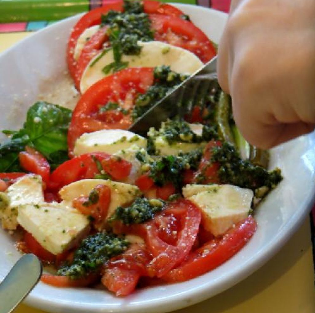 "Photo of Malia's Cafe  by <a href=""/members/profile/benonijump"">benonijump</a> <br/>Tomato & mozzarella salad w/ basil <br/> September 23, 2013  - <a href='/contact/abuse/image/33374/202082'>Report</a>"