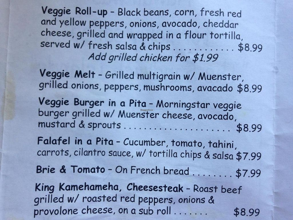 """Photo of Malia's Cafe  by <a href=""""/members/profile/AbbyOBrien"""">AbbyOBrien</a> <br/>Part of the lunch menu <br/> July 24, 2014  - <a href='/contact/abuse/image/33374/74901'>Report</a>"""