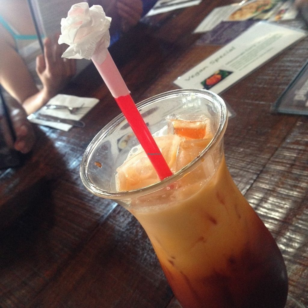 """Photo of Plumeria  by <a href=""""/members/profile/IsaacAguilar"""">IsaacAguilar</a> <br/>Thai iced tea with coconut milk.  <br/> July 17, 2016  - <a href='/contact/abuse/image/33396/160538'>Report</a>"""