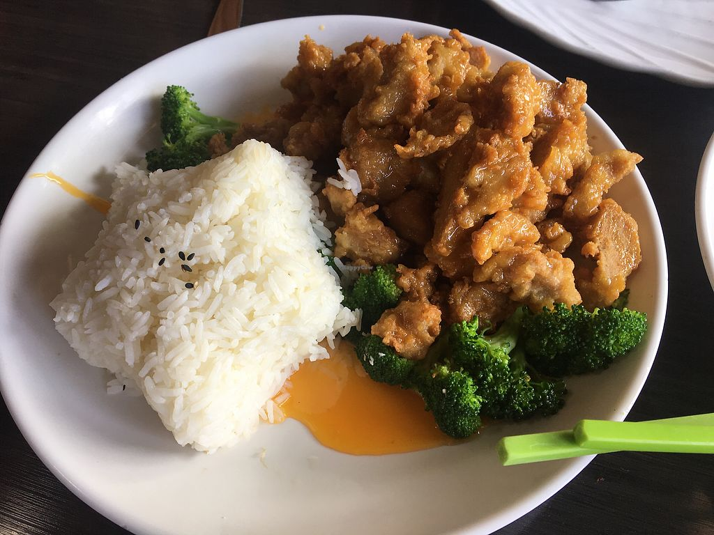 """Photo of Plumeria  by <a href=""""/members/profile/AriTravels"""">AriTravels</a> <br/>Tangerine Chicken & White Rice ?Gluten Free <br/> December 27, 2017  - <a href='/contact/abuse/image/33396/339499'>Report</a>"""
