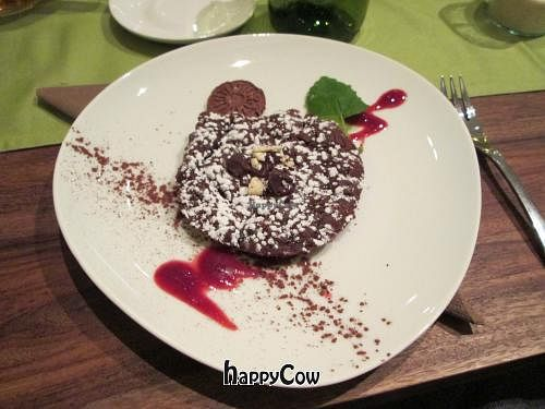 """Photo of Bistro Bardot  by <a href=""""/members/profile/J-Veg"""">J-Veg</a> <br/>Warm chocolate 'tart' (more like brownie in a biscuit form) <br/> February 23, 2013  - <a href='/contact/abuse/image/33408/44603'>Report</a>"""