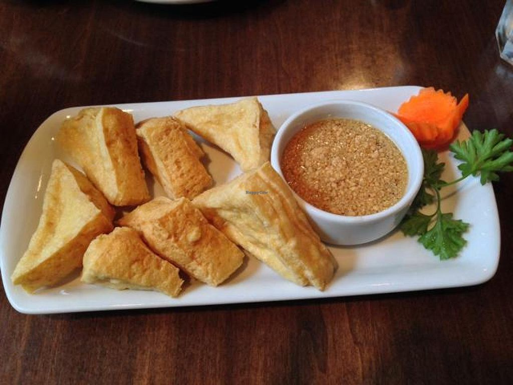 """Photo of Bua Thai Cuisine  by <a href=""""/members/profile/happycowgirl"""">happycowgirl</a> <br/>Golden Triangle (fried tofu w peanut sauce) <br/> October 22, 2014  - <a href='/contact/abuse/image/33459/83644'>Report</a>"""