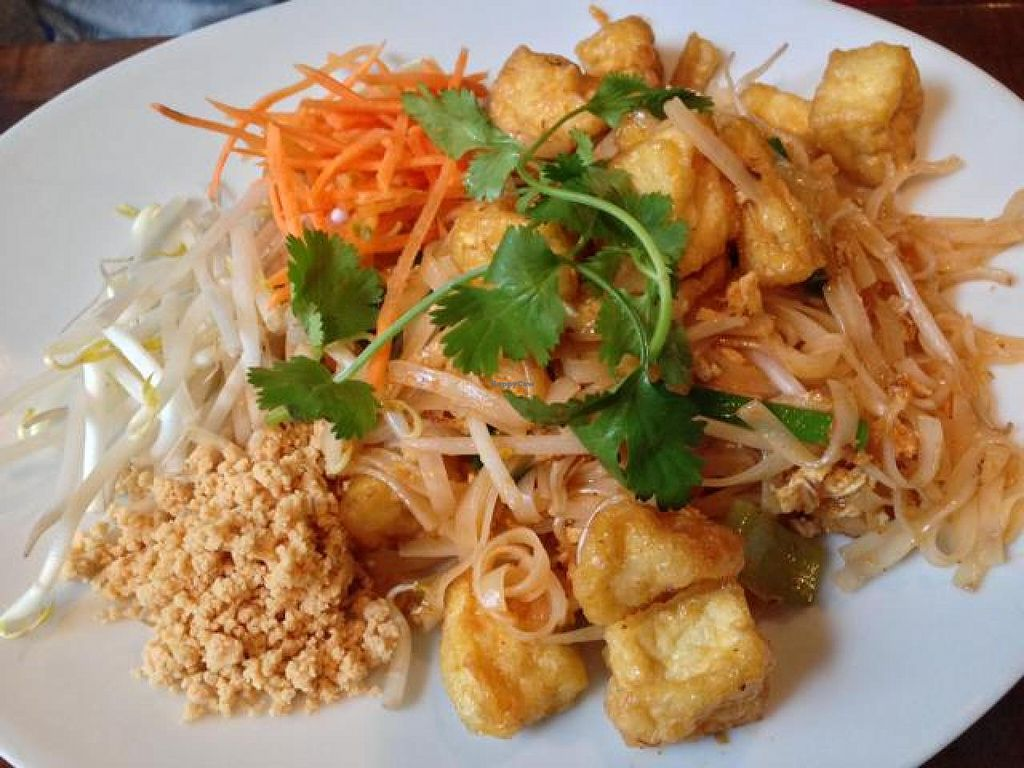 """Photo of Bua Thai Cuisine  by <a href=""""/members/profile/happycowgirl"""">happycowgirl</a> <br/>Pad Thai with tofu <br/> October 22, 2014  - <a href='/contact/abuse/image/33459/83645'>Report</a>"""