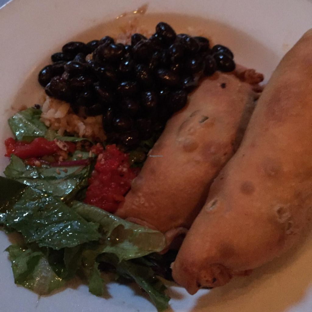 """Photo of The Conquistador Lounge  by <a href=""""/members/profile/AmeliaC"""">AmeliaC</a> <br/>spinach & mushroom empanadas with the best black beans I've ever had <br/> July 14, 2015  - <a href='/contact/abuse/image/33461/109239'>Report</a>"""