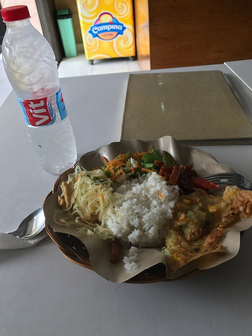 """Photo of CLOSED: Loving Hut - Malioboro  by <a href=""""/members/profile/Tim_nottingham"""">Tim_nottingham</a> <br/>Choice from ready cooked  <br/> May 4, 2017  - <a href='/contact/abuse/image/33479/255359'>Report</a>"""