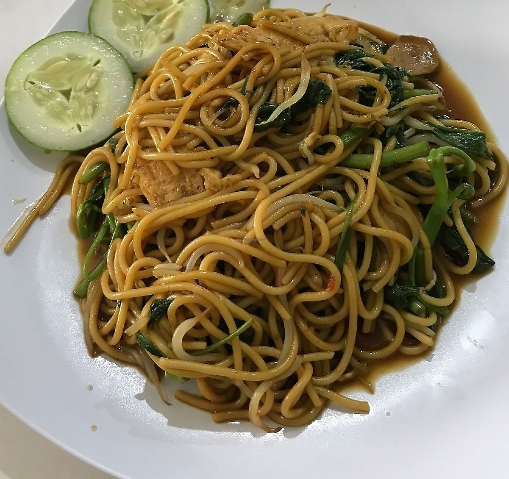 """Photo of CLOSED: Loving Hut - Malioboro  by <a href=""""/members/profile/Tim_nottingham"""">Tim_nottingham</a> <br/>Noodles  <br/> May 4, 2017  - <a href='/contact/abuse/image/33479/267567'>Report</a>"""