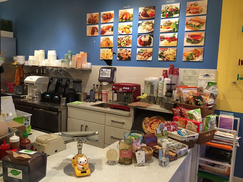 """Photo of Happiness Cafe  by <a href=""""/members/profile/AshleyLorden"""">AshleyLorden</a> <br/>small selection of vegan snacks at counter <br/> August 13, 2017  - <a href='/contact/abuse/image/33481/292197'>Report</a>"""