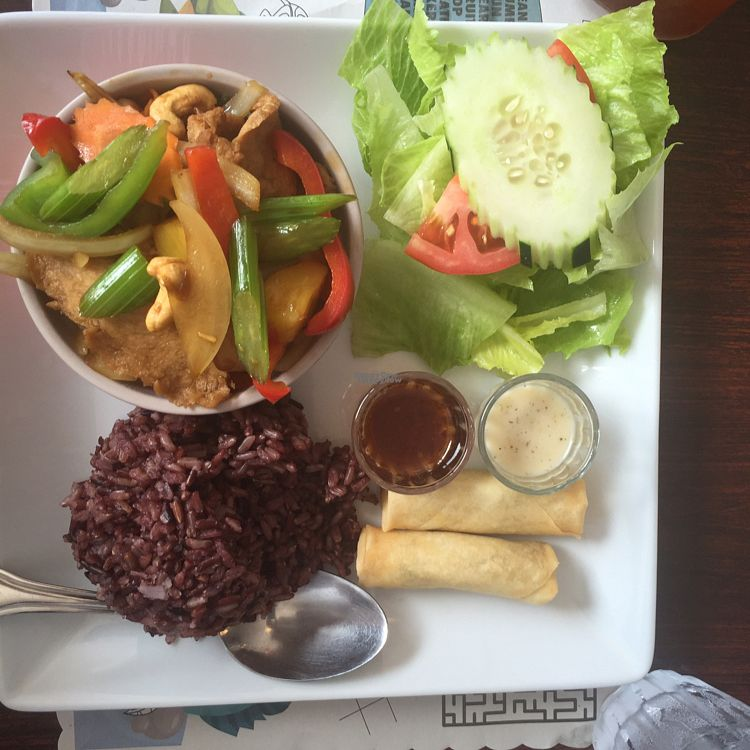 "Photo of Vegan Plate  by <a href=""/members/profile/Maggiedibar28"">Maggiedibar28</a> <br/>cashew ""chicken""  <br/> September 2, 2016  - <a href='/contact/abuse/image/33482/173040'>Report</a>"
