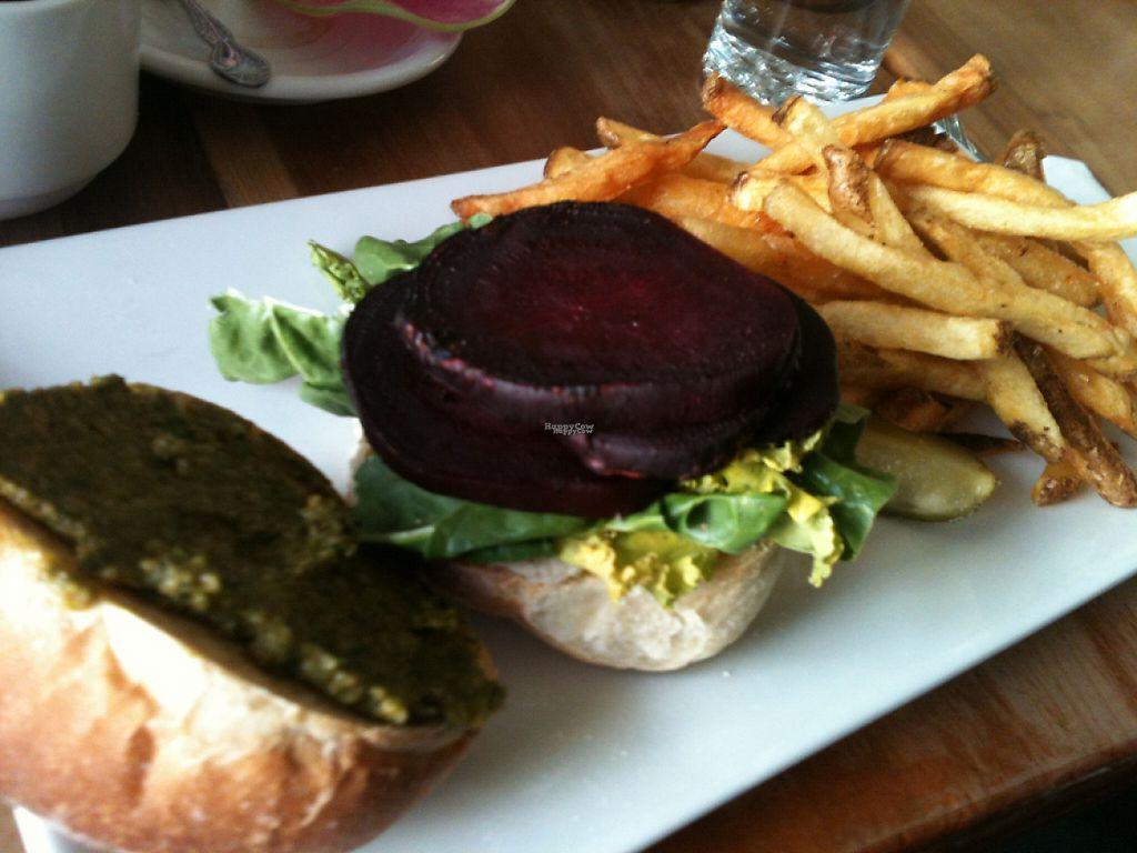 "Photo of Duo  Bistro  by <a href=""/members/profile/ecoRDN"">ecoRDN</a> <br/>Roasted Beet Sandwich, Duo Bistro, Kingston, NY -