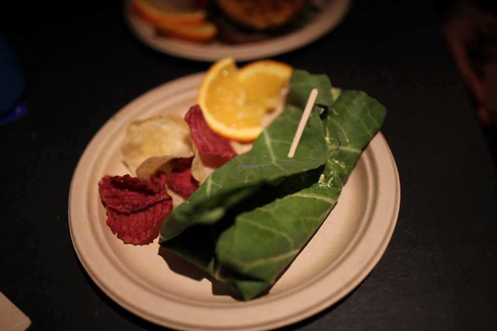 """Photo of Simple Bliss Cafe  by <a href=""""/members/profile/theveganpsychonaut"""">theveganpsychonaut</a> <br/>Green wrapped """"egg"""" sandwich  <br/> December 18, 2016  - <a href='/contact/abuse/image/33520/202580'>Report</a>"""